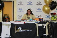 Congratulations to Kristen Kamnick on signing her letter of intent to play at Weatherford College this coming fall 2018. Way to go.